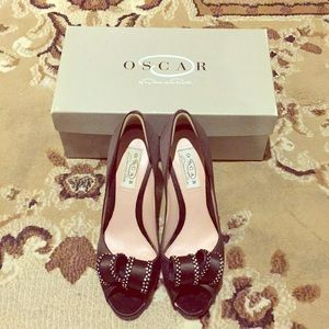 Oscar de la Renta Peep Toe Heels - Size 7 1/2 M
